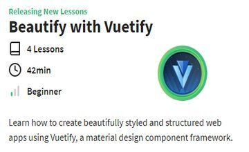 Beautify with Vuetify