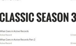 Classic Season 3