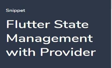 Flutter - Управление состоянием с Provider