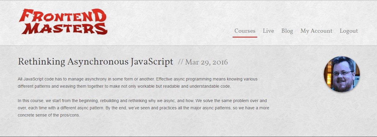 Переосмысление Asynchronous JavaScript