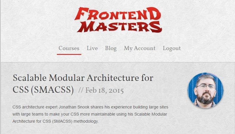 CSS методология - SMACSS