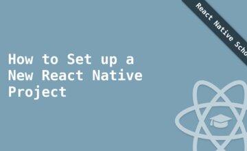 Как настроить новый проект React Native