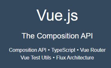 Курс Vue.js 3 - Composition API, TypeScript, Тестирование