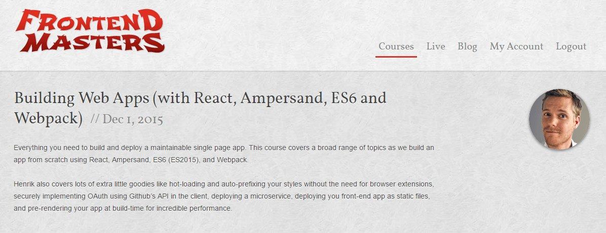 Веб-приложения с React, Ampersand, ES6 и Webpack