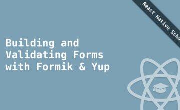 Создание и проверка форм с помощью Formik и Yup
