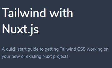 Tailwind с Nuxt.js