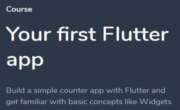 Ваше первое приложение Flutter
