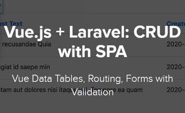 Vue.js + Laravel: CRUD и SPA