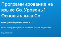 Программирование на языке Go. Уровень 1. Основы языка Go