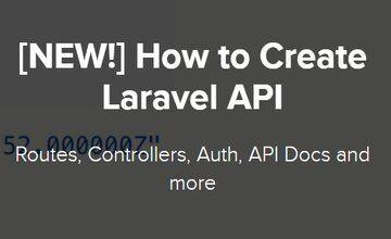 Как создать Laravel API