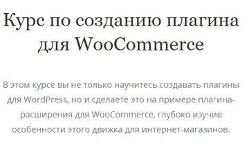 Курс по созданию плагина для WooCommerce