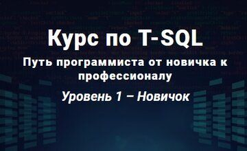 Курс по T-SQL Путь программиста от новичка к профессионалу Уровень 1 - Новичок