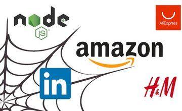 Поисковый робот с Nodejs (H&M, Amazon, LinkedIn, AliExpress)