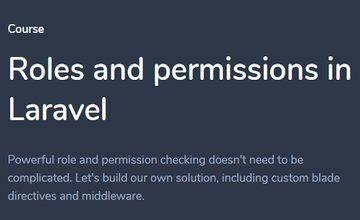 Роли и разрешения в Laravel