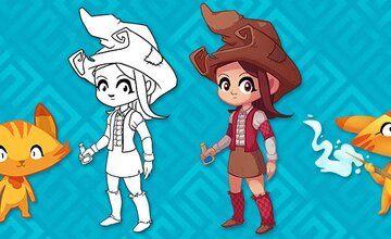 Сел-шейдинг 2D персонажей с Krita