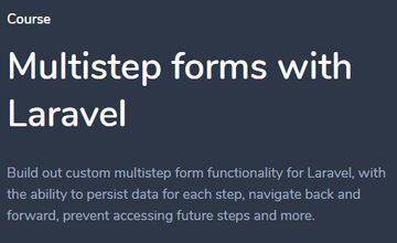 Создание многошаговых форм с Laravel